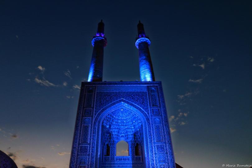 Yazd Djameh nuit